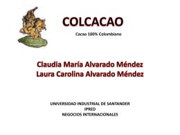 Diapositivas Colcacao - Universidad Industrial de Santander