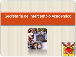 Secretaría de Intercambio Académico