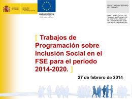 Programas Operativos - Red de Inclusión Social