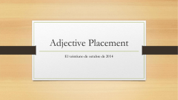 Adjective Placement - Silver Wolf Foreign Language