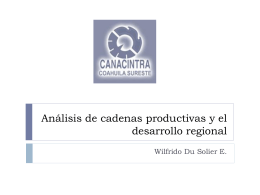 Análisis de cadenas productivas y el desarrollo regional