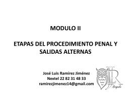 MODULO II ETAPAS DEL PROCEDIMIENTO Y SALIDAS