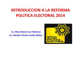 introduccion a la reforma politica electoral 2014