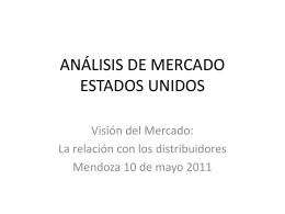 ANÁLISIS DE MERCADO ESTADOS UNIDOS