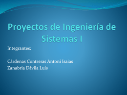Proyectos de Ingeniería de Sistemas I