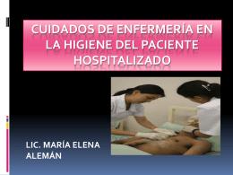 Higiene - Licenciada María Elena Alemán B.