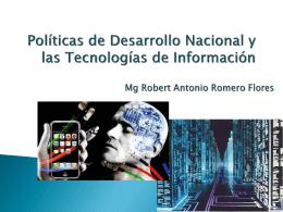 Políticas de Desarrollo Nacional y las Tecnologías
