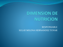 DIMENSION DE NUTRICION