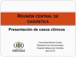 Caso clínico - Sociedad de Neumonología de Córdoba