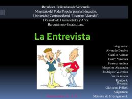 La entrevista - metodos-2do-artes-plasticas