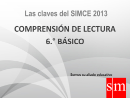 CLAVES SIMCE LECTURA 2013