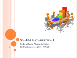 XS-104 Estadística I