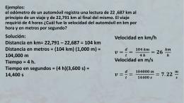Fisica 8 ejemplos mov rec uniforme