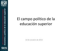 El campo político de la educación superior