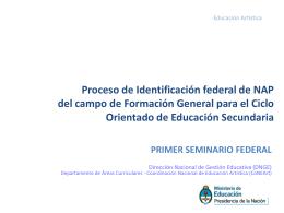Proceso de Identificación federal de NAP del campo de Formación