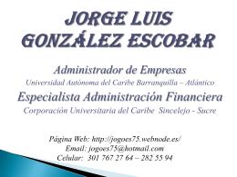 teoria general de sistemas - Jorge Luis González Escobar