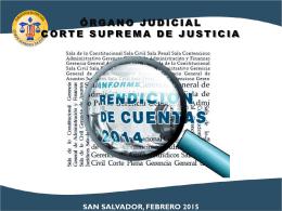 informe formato ppt - Corte Suprema de Justicia