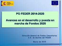 Avance fondos 2020