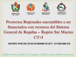 Proyectos Regionales Mocoa 13 de marzo