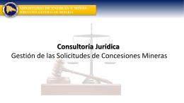 Consultoría Jurídica - Dirección General de Minería