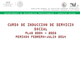Curso de Induccion Servicio Social Feb-Jul2014