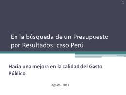 Cesar Calmet - Direccion General de Presupuestos del Peru.
