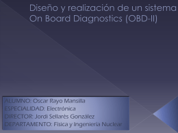 Diseño y realización de un sistema On Board Diagnostics
