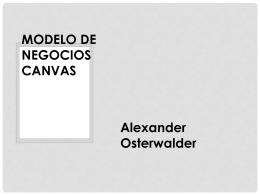 PPT MODELO DE NEGOCIOS CANVAS