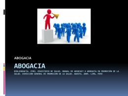ABOGACIA - Programa Promoción de la Salud