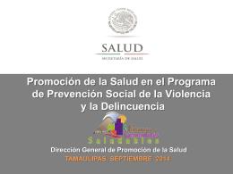 tamaulipas - Dirección General de Promoción de la Salud