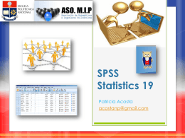 SPSS Statistics 19
