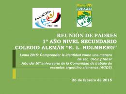 REUNIÓN DE PADRES - Colegio Alemán Eduardo L. Holmberg