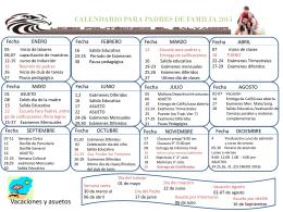 CALENDARIO PARA PADRES DE FAMILIA 2015