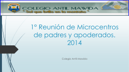1° Reunión de Microcentros de padres y apoderados. 2014