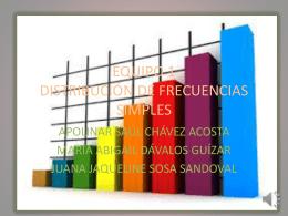 equipo 1 distribución de frecuencias simples