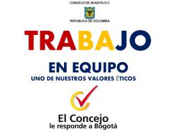 trabajo en equipo - Concejo de Bogotá