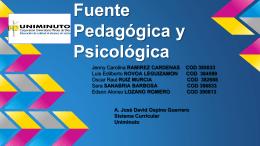 Pedagógica . PARTE 1 - Fuente Psicologica y Pedagogica en la