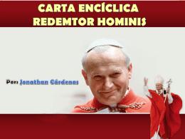 CARTA ENCÍCLICA REDEMTOR HOMINIS Juan pablo ii-1979