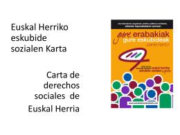 aurkezpena [01] castel - Euskal Herriko Eskubide Sozialen Karta