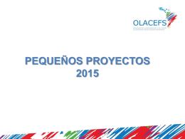 PEQUEÑOS PROYECTOS 2015 Carta manifestación de