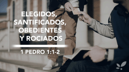 1 Pedro 1:2 - Familia Semilla