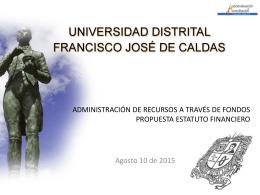 Propuesta Estatuto Presupuestal, Universidad Distrital Francisco