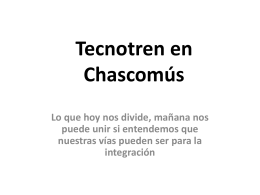 Tecnotren en Chascomús