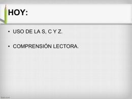 ortografia literal uso de s c y z 2