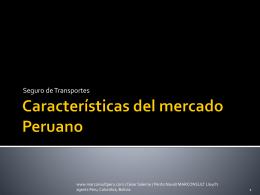 Características del mercado Peruano