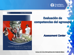 Assessment Center, Verónica Pedrero Descargar-5.8MB