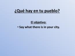 Año 9: ¿Cómo es tu ciudad?