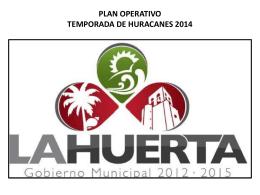 PLAN OPERATIVO DE HURACANES 2014