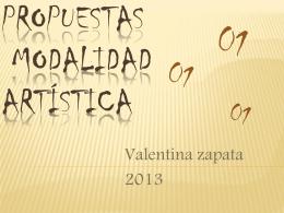 Propuestas modalidad artistica - Institución Educativa Aquilino Bedoya