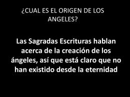 ¿cual es el origen de los angeles?